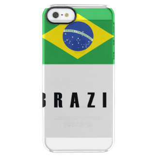 Brazil Flag Simple Dark Clear iPhone SE/5/5s Case