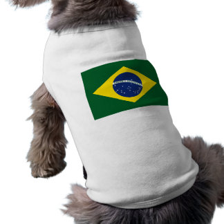 Brazil flag sleeveless dog shirt