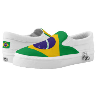 Brazil Flag Slip On Shoes