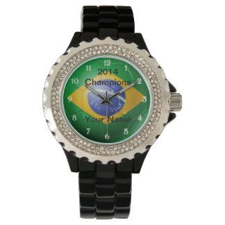 Brazil Flag Soccer Watch