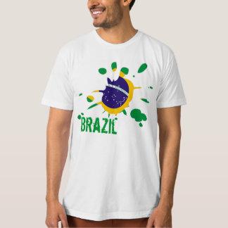 brazil flag spot stain t-shirts