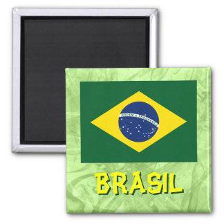 Brazil flag square magnet