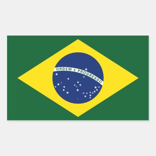 Brazil flag rectangle stickers
