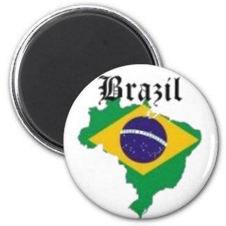 BRAZIL FLAG  T-SHIRT AND ETC 6 CM ROUND MAGNET