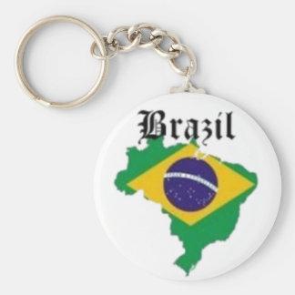 BRAZIL FLAG  T-SHIRT AND ETC BASIC ROUND BUTTON KEY RING