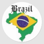 BRAZIL FLAG  T-SHIRT AND ETC ROUND STICKERS