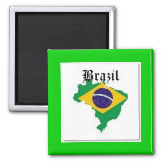BRAZIL FLAG  T-SHIRT AND ETC SQUARE MAGNET