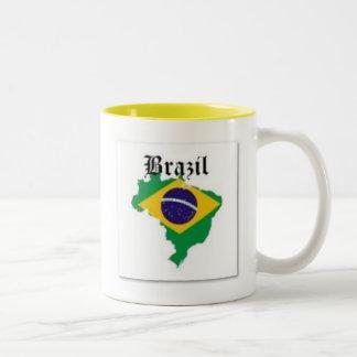 BRAZIL FLAG  T-SHIRT AND ETC Two-Tone MUG