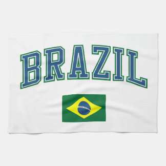 Brazil + Flag Tea Towel