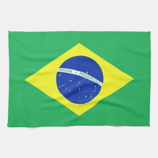 Brazil Flag Tea Towel