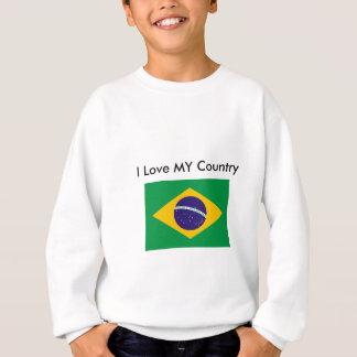 Brazil Flag The MUSEUM Zazzle I Love MY Country Sweatshirt