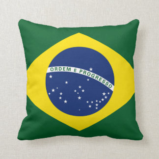 Brazil flag throw cushion