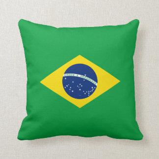 Brazil Flag Throw Pillow