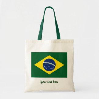 Brazil flag canvas bag
