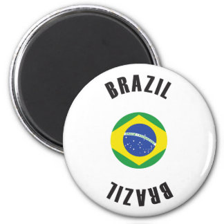 Brazil Flag Wheel Magnet