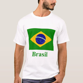 Brazil Flag with Name in Portuguese T-Shirt