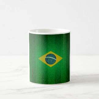 Brazil Flag With Soccer Field Texture Coffee Mug
