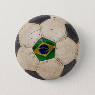 Brazil Football 6 Cm Round Badge