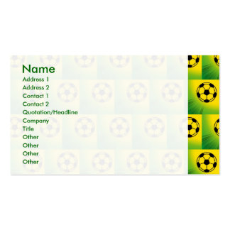 Brazil football pattern business cards