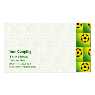 Brazil football pattern pack of standard business cards