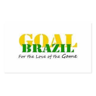 Brazil - For the Love of the Game Business Cards