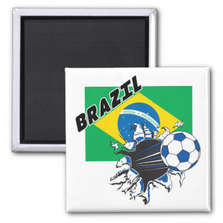 Brazil Futbol Soccer Refrigerator Magnet
