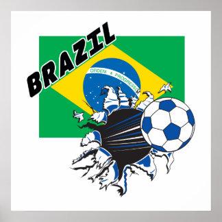 Brazil Futbol Soccer Poster