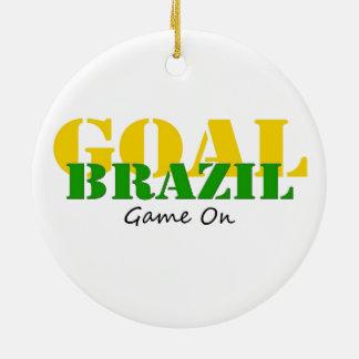 Brazil - Goal Game On Christmas Ornament