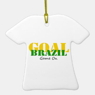 Brazil - Goal Game On Christmas Ornaments