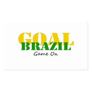 Brazil - Goal Game On Pack Of Standard Business Cards