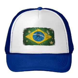 Brazil Grunge flag for Brazilians worldwide Cap