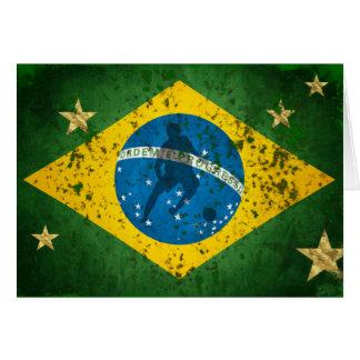 Brazil Grunge flag for Brazilians worldwide Greeting Card