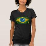 Brazil Grunge flag for Brazilians worldwide Tees