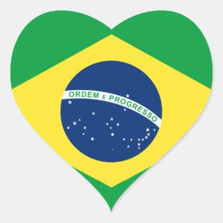 brazil heart flag heart sticker
