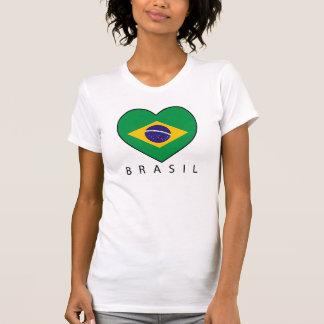 Brazil Heart Soccer T-Shirt