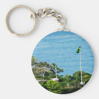 Brazil Basic Round Button Key Ring