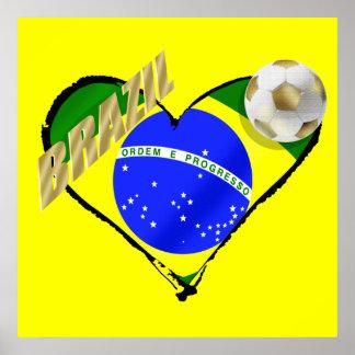 Brazil loves soccer - Brasil ama o futebol Poster