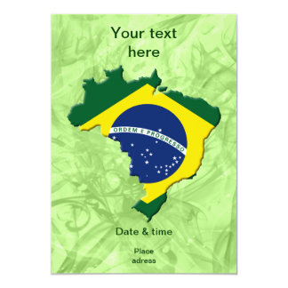 Brazil map 13 cm x 18 cm invitation card