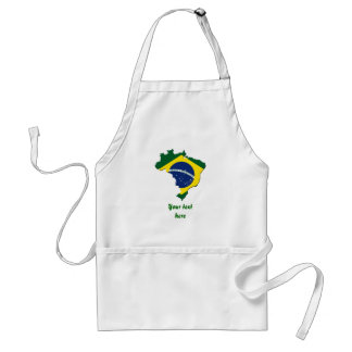 Brazil map adult apron