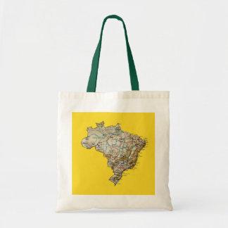 Brazil Map Bag