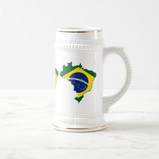 Brazil map beer steins