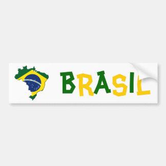 Brazil map bumper sticker