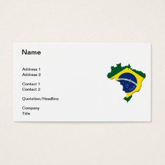 Brazil map business card