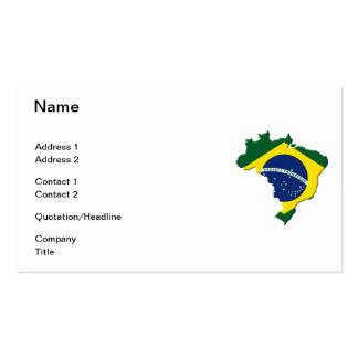 Brazil map business card template