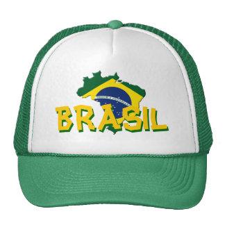 Brazil map cap