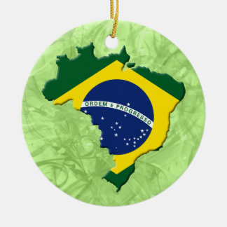 Brazil map christmas ornament
