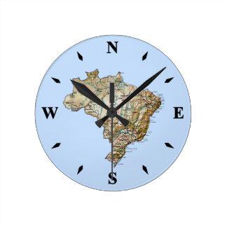 Brazil Map Clock
