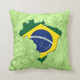 Brazil map cushion