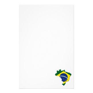 Brazil map custom stationery