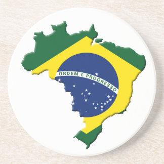 Brazil map drink coaster